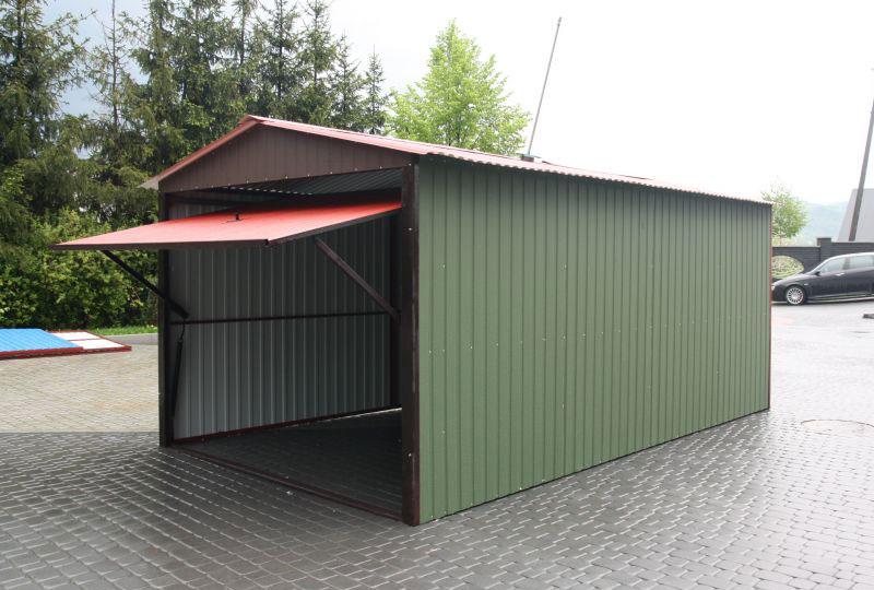 Как построить гараж своими руками из металлопрофиля